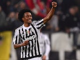 Juan Cuadrado of Juventus FC celebrates the gol of the victory during the Serie A match between Juventus FC and Torino FC at Juventus Arena on October 31, 2015 in Turin, Italy.