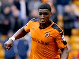 Kortney Hause of Wolverhampton Wanderers in action during the Sky Bet Championship match between Wolverhampton Wanderers and Middlesborough at Molineux Stadium on October 24, 2015 in Wolverhampton, England.