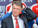 Manchester United's Dutch manager Louis van Gaal awaits kick of in the English Premier League football match between Crystal Palace and Manchester United at Selhurst Park in south London on October 31, 2015