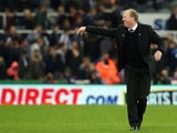 Steve McClaren manager of Newcastle United reacts after his team's scoreless draw in the Barclays Premier League match between Newcastle United and Stoke City at St James' Park on October 31, 2015