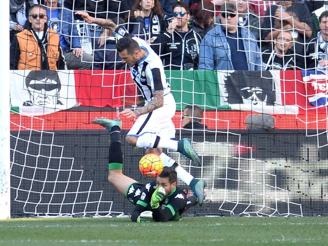 Result: Udinese play out goalless draw with Sassuolo