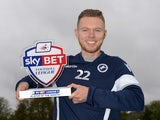 Millwall's Aiden O'Brien with his League One October Player of the Month award