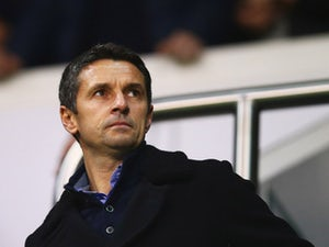 Newly appointed Aston Villa manager Remi Garde looks on from the stands prior to during the Barclays Premier League match between Tottenham Hotspur and Aston Villa at White Hart Lane on November 2, 2015