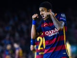 Neymar of FC Barcelona celebrates after scoring his team's third goalduring the UEFA Champions League Group E match between FC Barcelona and FC BATE Borisov at the Camp Nou on November 4, 2015