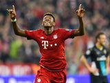 Bayern Munich's Austrian defender David Alaba celebrates after scoring the third goal during the UEFA Champions League Group F second-leg football match between FC Bayern Munich and Arsenal FC in Munich, southern Germany, on November 4, 2015