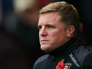 Eddie Howe Manager of Bournemouth looks on prior to the Barclays Premier League match between A.F.C. Bournemouth and Newcastle United at Vitality Stadium on November 7, 2015 in Bournemouth, England.
