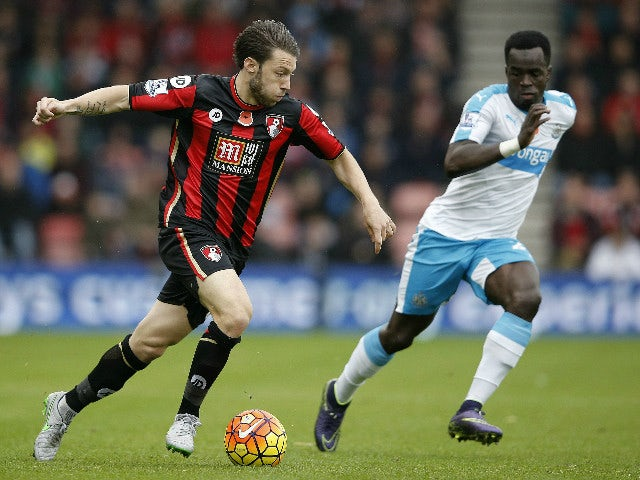Bournemouth's English-born Irish midfielder Harry Arter (L) vies against Newcastle United's Ivorian midfielder Cheick Tiote during the English Premier League football match between Bournemouth and Newcastle United at the Vitality Stadium in Bournemouth, s