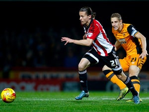 Vibe gives Brentford lead against Dons