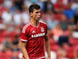 Daniel Ayala of Middlesbrough in action during the Sky Bet Championship match between Middlesbrough v Bristol City at Riverside Stadium on August 22, 2015