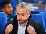 Chelsea's Portuguese manager Jose Mourinho gestures during a UEFA Chamions league group stage football match between Chelsea and Dynamo Kiev at Stamford Bridge stadium in west London on November 4, 2015