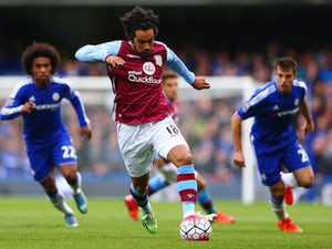 Kieran Richardson of Aston Villa in action during the Barclays Premier League match between Chelsea and Aston Villa at Stamford Bridge on October 17, 2015 in London, England.