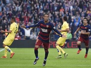 Neymar double helps Barca beat Villarreal