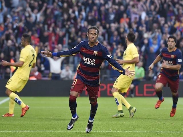 Result: Neymar double helps Barca beat Villarreal