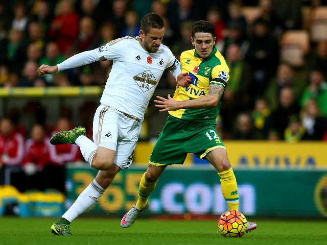 Result: Norwich claim narrow win over Swansea