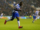 Ola John of Reading celebrates after scoring his team's second goal of the game during the Sky Bet Championship match between Reading and Huddersfield Town on November 3, 2015