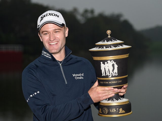 Russell Knox of Scotland with the winners trophy after the final round of the WGC - HSBC Champions at the Sheshan International Golf Club on November 8, 2015 in Shanghai, China.