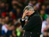 Sam Allardyce, manager of Sunderland reacts during the Barclays Premier League match between Sunderland and Southampton at Stadium of Light on November 7, 2015 in Sunderland, England.