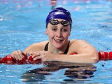 Great Britain's Siobhan Marie O'Connor smiles after she won the semi-final 1 of the women's 200m individual medley swimming event at the 2015 FINA World Championships in Kazan on August 2, 2015