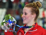 Bronze medalist Siobhan-Marie O'Connor of Great Britain during the medal ceremony for the Women's 200m Individual Medley on day ten of the 16th FINA World Championships at the Kazan Arena on August 3, 2015