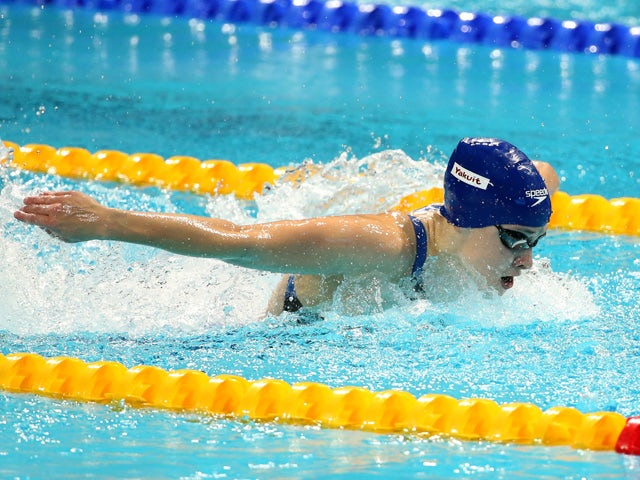 Siobhan-Marie O'Connor of Great Britain competes in the Mixed 4x100m Medley Relay Final on day twelve of the 16th FINA World Championships at the Kazan Arena on August 5, 2015