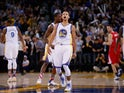 Golden State Warriors point-guard Stephen Curry in action during the NBA match against the Los Angeles Clippers on November 4, 2015