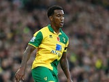 Andre Wisdom of Norwich City in action during the Barclays Premier League match between Norwich City and Swansea City at Carrow Road on November 7, 2015