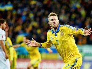 Ukraine lead Slovenia at the interval