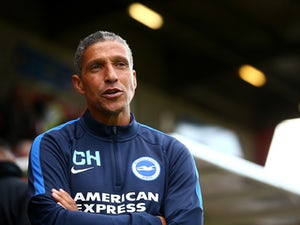 Brighton manager Chris Hughton looks on ahead of the Pre Season Friendly between Crawley Town and Brighton & Hove Albion at the Checkatrade.com Stadium on July 22, 2015