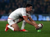 Gareth Widdop of England during the International Rugby League Test Series match between England and New Zealand at KC Stadium on November 1, 2015