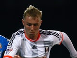Jack Grimmer of Fulham during the FA Cup Fourth Round Replay match between Fulham and Sunderland at Craven Cottage on February 3, 2015