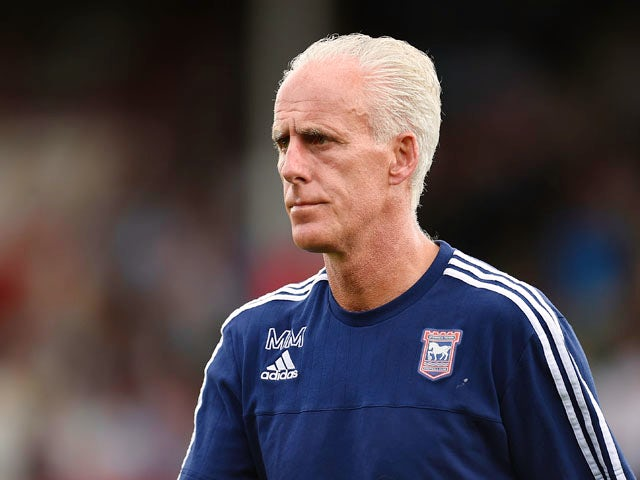 Manager of Ipswich Town Mick McCarthy looks on during the Sky Bet Championship match between Brentford and Ipswich Town at Griffin Park on August 8, 2015