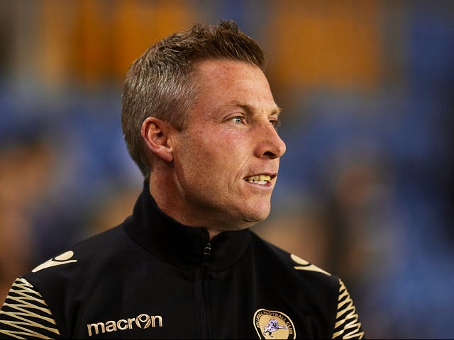 Millwall manager Neil Harris looks on during the Johnstone's Paint Trophy match between Millwall and Northampton Town at The Den on October 6, 2015