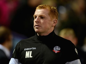 Bolton manager Neil Lennon takes his seat ahead of the Sky Bet Championship match between Bolton Wanderers and Sheffield Wednesday at Reebok Stadium on September 15, 2015