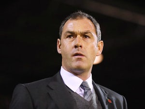 Paul Clement manager of Derby County looks on prior to the Sky Bet Championship match between Nottingham Forest and Derby County at City Ground on November 6, 2015