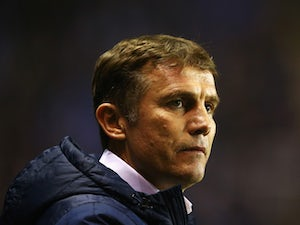 Phil Parkinson, manager of Bradford City looks on during the FA Cup Quarter Final Replay match between Reading and Bradford City at Madejski Stadium on March 16, 2015