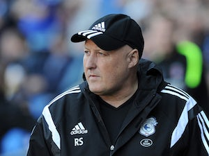 Russell Slade, Manager of Cardiff City during the Sky Bet Championship match between Cardiff City and Charlton Athletic at the Cardiff City Stadium on September 26, 2015