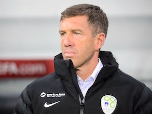 Slovenia's head coach Srecko Katanec looks on before the Euro 2016 qualifying football match between Slovenia and San Marino at the Stozice Stadium in in Ljubljana on March 27, 2015.