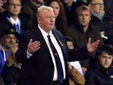 Steve Evans manager of Leeds United reacts during the Sky Bet Championship match between Leeds United and Blackburn Rovers on October 29, 2015