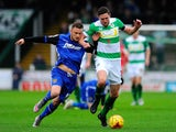 Ben Tozer of Yeovil Town is tackled by Dean Parrett of Stevenage during the Sky Bet League Two match between Yeovil Town and Stevenage at Huish Park on November 14, 2015