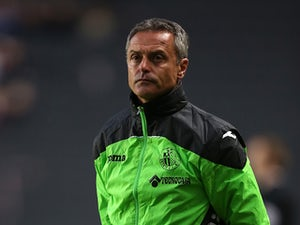 Getafe CF manager Fran Escriba looks on during the Pre-Season Friendly match between MK Dons and Getafe CF at Stadium mk on July 28, 2015