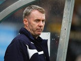 John Sheridan manager of Plymouth Argyle looks on prior to the Sky Bet League Two Playoff semi final match between Wycombe Wanderers and Plymouth Argyle at Adams Park on May 14, 2015