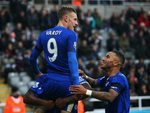 Vardy equals record as Leicester win