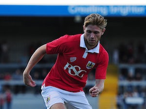 Scott Wagstaff of Bristol City in action during the Pre-Season Friendly match between Weston-super-Mare AFC and Bristol City at Woodspring Stadium on July 9, 2014