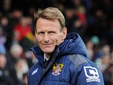 Stevenage Manager Teddy Sheringham during the Sky Bet League Two match between Yeovil Town and Stevenage at Huish Park on November 14, 2015