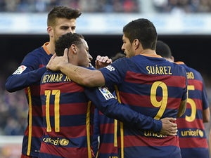 Neymar, Suarez give Barcelona lead