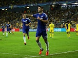 Gary Cahill of Chelsea celebrates scoring the opening goal during the UEFA Champions League Group G match between Maccabi Tel-Aviv FC and Chelsea FC at Sammy Ofer Stadium on November 24, 2015