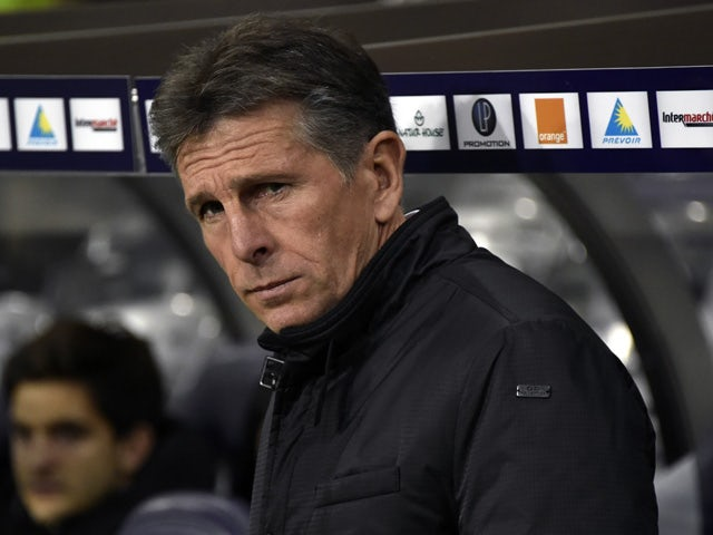 Nice's French head coach Claude Puel during the French L1 football match Toulouse vs Nice on November 28, 2015