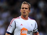 Kevin Davies of Bolton Wanderers in action during the npower Championship match between Bolton Wanderers and Derby County at Reebok Stadium on August 21, 2012 in Bolton, England.