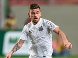 Lucas Lima #20 of Santos a match between Atletico MG and Santos as part of Brasileirao Series A 2015 at Independencia Stadium on June 10, 2015