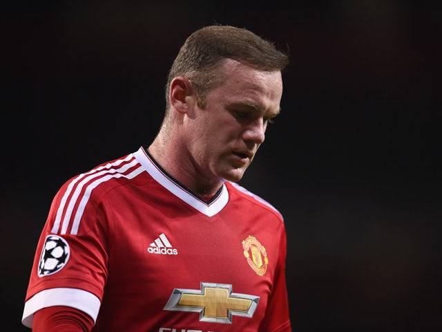 04060cf1d Wayne Rooney of Manchester United looks thoughtful during the UEFA  Champions League Group B match between